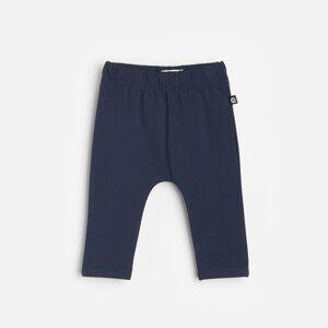 Reserved - Bavlnené teplákové nohavice - Tmavomodrá