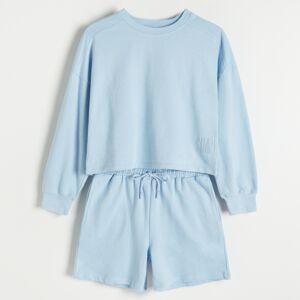Reserved - Bavlnené pyžamo - Modrá