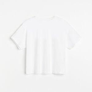 Reserved - Krátke tričko z organickej bavlny - Biela