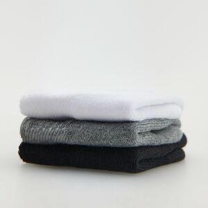 Reserved - Súprava 3 párov členkových ponožiek - Biela