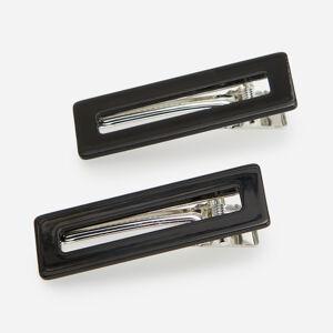 Reserved - Súprava 2 čiernych sponiek do vlasov - Čierna
