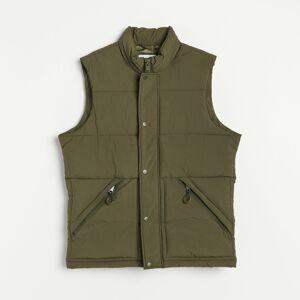 Reserved - Prešívaná vesta so stojačikom - Zelená
