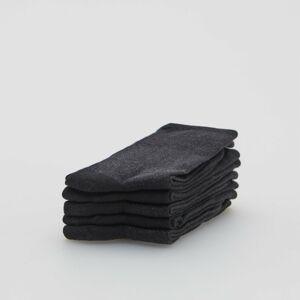 Reserved - Súprava 5 párov ponožiek z organickej bavlny - Čierna