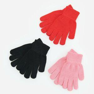Reserved - Súprava 3 párov rukavíc - Čierna