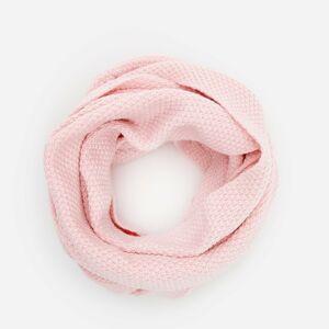 Reserved - Úpletový komínový šál - Ružová