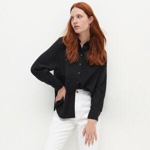 Reserved - Bavlnená košeľa - Čierna