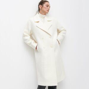 Reserved - Vlnený kabát - Krémová