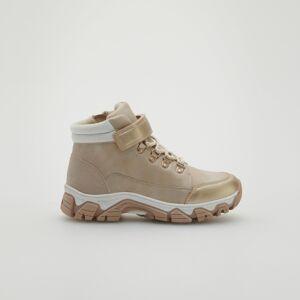 Reserved - Zlaté členkové topánky - Béžová