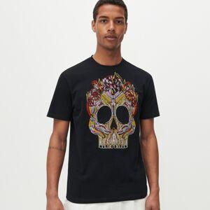 Reserved - Tričko s výšivkou - Čierna