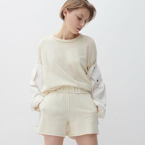 Reserved - Ladies` t-shirt - Krémová