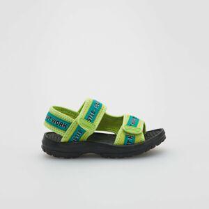 Reserved - Sandále s potlačou a zapínaním na suchý zips - Zelená