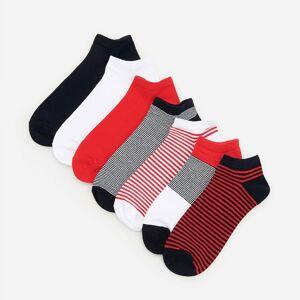 Reserved - Súprava 7 párov bavlnených členkových ponožiek - Tmavomodrá
