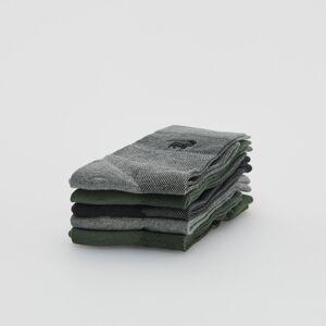 Reserved - Súprava 5 párov vzorovaných ponožiek - Šedá