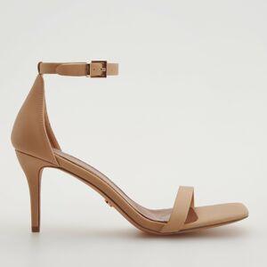 Reserved - Kožené sandále - Krémová