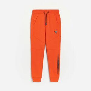 Reserved - Bavlnené teplákové nohavice - Červená