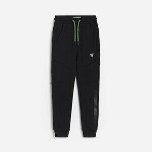 Reserved - Bavlnené teplákové nohavice - Čierna