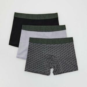 Reserved - Men`s boxer shorts - Šedá