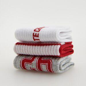Reserved - Súprava 3 párov ponožiek z organickej bavlny - Bordový