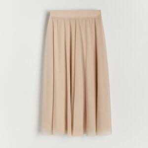 Reserved - Plisovaná sukňa - Béžová