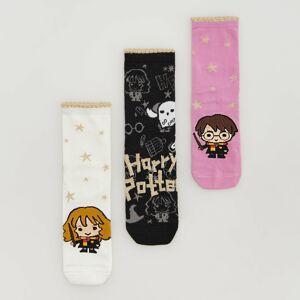 Reserved - Súprava 3 párov ponožiek Harry Potter - Čierna