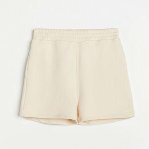 Reserved - Ladies` shorts - Krémová