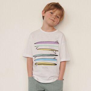 Reserved - Voľné tričko spotlačou - Biela