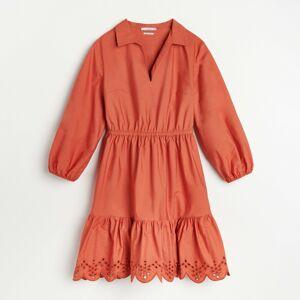 Reserved - Šaty s ozdobnou výšivkou - Červená