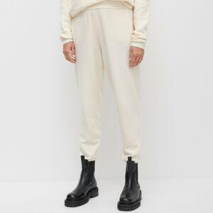 Reserved - Úpletové nohavice s prímesou recyklovaného polyesteru - Krémová