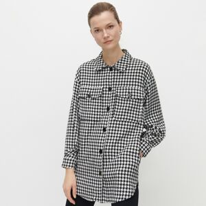 Reserved - Pepitová bunda typu shacket - Čierna