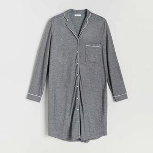 Reserved - Nočná košeľa s golierom - Čierna