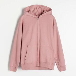 Reserved - Mikina na zips s kapucňou z organickej bavlny - Purpurová