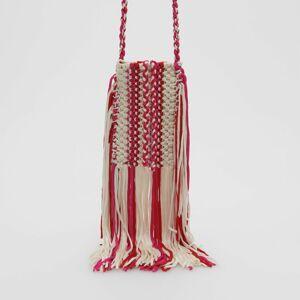 Reserved - Handmade kabelka so strapcami - Viacfarebná