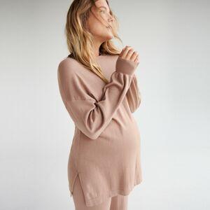 Reserved - Basic sveter z viskózy LENZING™ ECOVERO™ - Béžová