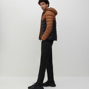 Reserved - Prešívaná bunda s kapucňou - Hnědá