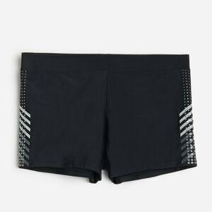 Reserved - Men`s swimming trunks - Čierna