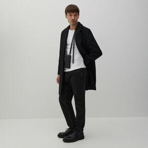Reserved - Klasický vlnený kabát - Čierna
