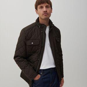 Reserved - Prešívaná bunda s kapucňou - Béžová