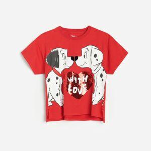 Reserved - Tričko s aplikáciou 101 Dalmatians - Červená