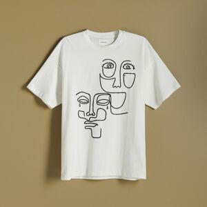 Reserved - Tričko s výšivkou - Krémová