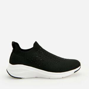 Reserved - Nasúvacie tenisky typu sneakers - Čierna