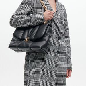 Reserved - Prešívaná taška s retiazkou - Čierna