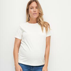 Reserved - Hladké tričko z organickej bavlny - Krémová