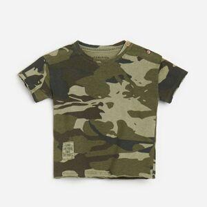 Reserved - Bavlnené army tričko - Zelená