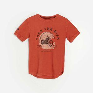 Reserved - Bavlnené tričko spotlačou - Červená