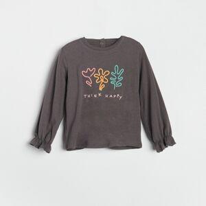 Reserved - Babies` blouse - Šedá