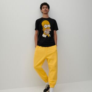Reserved - Bavlnené teplákové nohavice - Žltá