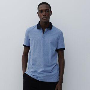 Reserved - Hladké tričko polo - Modrá