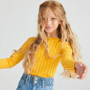 Reserved - Prúžkovaný pletený sveter - Žltá