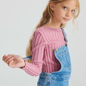 Reserved - Prúžkovaný pletený sveter - Purpurová