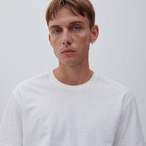 Reserved - Basic bavlnené tričko - Biela